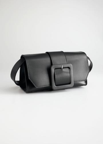 Other Stories Buckle Crossbody Bag - Black