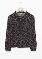 Other Stories Tie Neck Blouse - Black