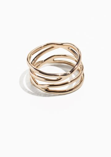 Other Stories Stacked Gold Ring