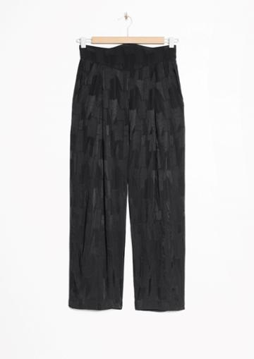 Other Stories High Waisted Satin Trousers