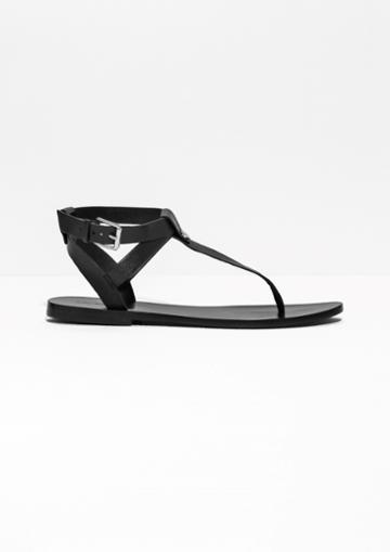 Other Stories T-strap Leather Sandals