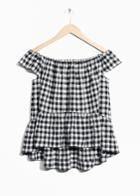 Other Stories Checkered Top - Black