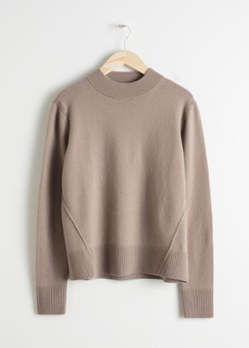 Other Stories Relaxed Fit Cashmere Sweater - Brown