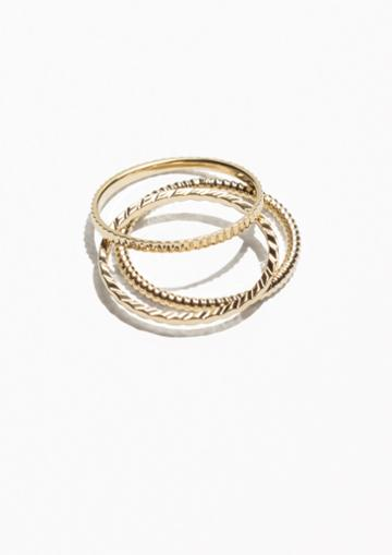 Other Stories Stack & Layer Ring Set