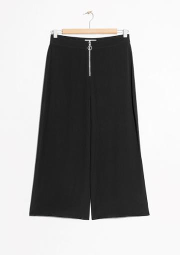 Other Stories O-ring Zipper Culottes