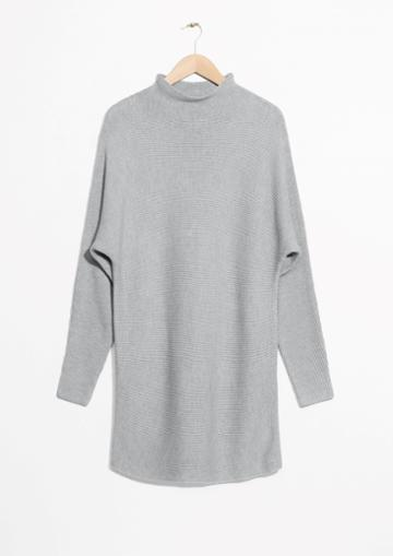 Other Stories Raised Neck Sweater Dress