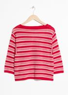 Other Stories Striped Crochet Top - Red