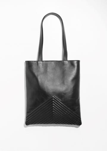 Other Stories Quilted Leather Tote