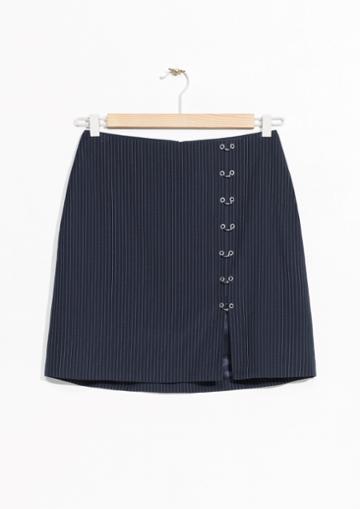 Other Stories Eyelet Mini Skirt
