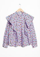 Other Stories Frilled Blouse - Purple