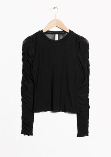 Other Stories Gathered Sleeve Top
