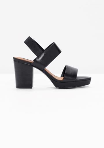 Other Stories Heeled Leather Sandals