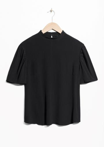 Other Stories Mock Neck Blouse