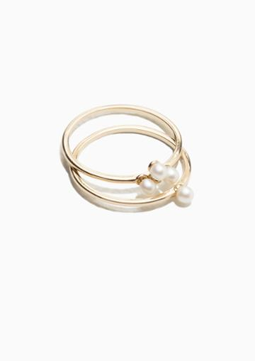 Other Stories Pearlescent Stone Ring