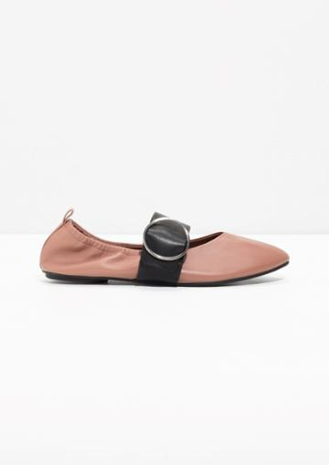 Other Stories Ballerina Buckle Flats