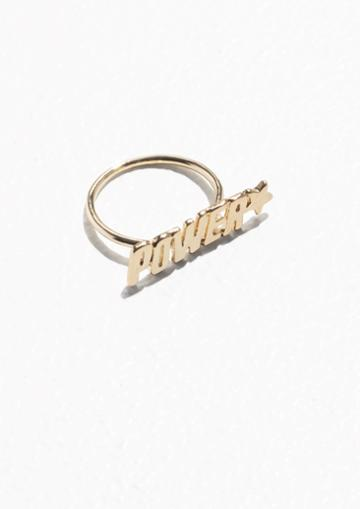 Other Stories Power Charm Ring