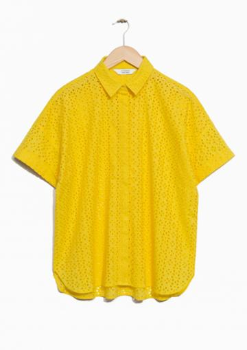 Other Stories Broderie Anglaise Blouse
