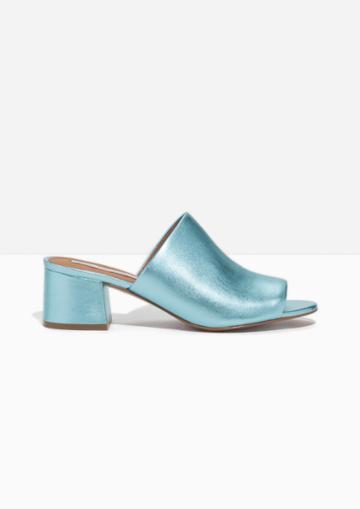 Other Stories Metallic Sandalette Mule
