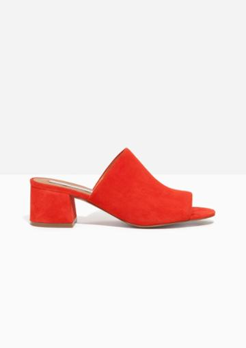 Other Stories Suede Sandalette Mule