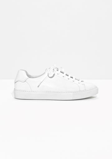 Other Stories Leather Lace-up Sneaker