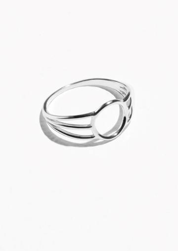 Other Stories Triple Band Circle Ring