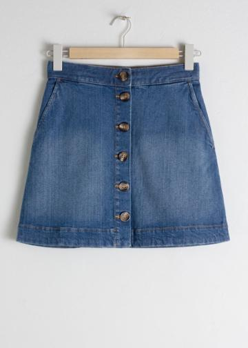 Other Stories Corduroy Mini Skirt - Blue