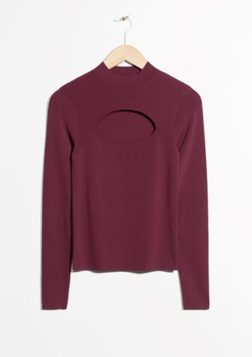 Other Stories Cut-out Sweater