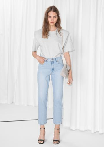 Other Stories Straight Fit Light Wash Jeans