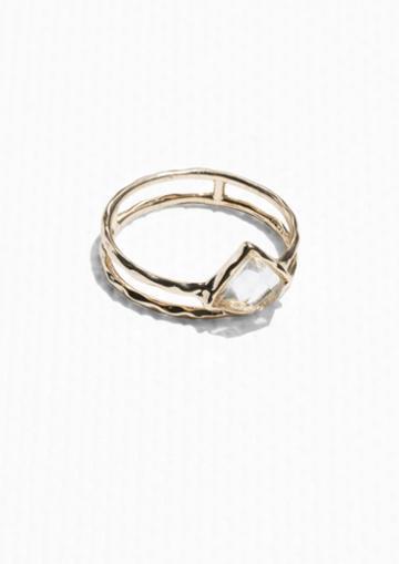 Other Stories Golden Gemstone Ring