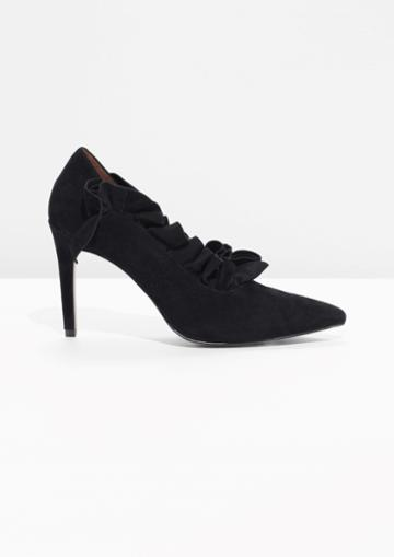 Other Stories Suede Frill Pumps