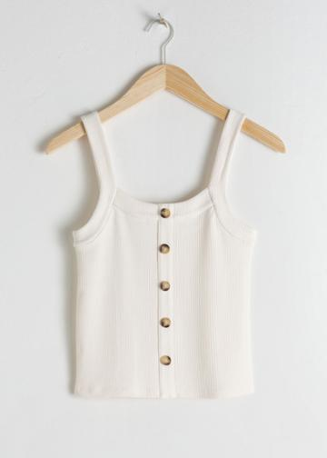 Other Stories Ribbed Tank Top - White