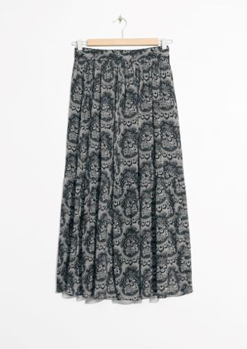Other Stories Tapestry Print Skirt