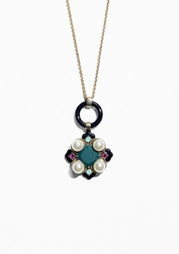 Other Stories Pearlescent Stone Necklace