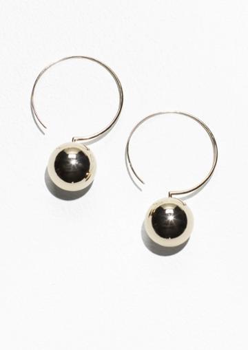Other Stories Golden Globe Hoop Earrings