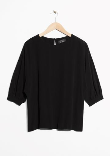 Other Stories Puff Sleeve Blouse