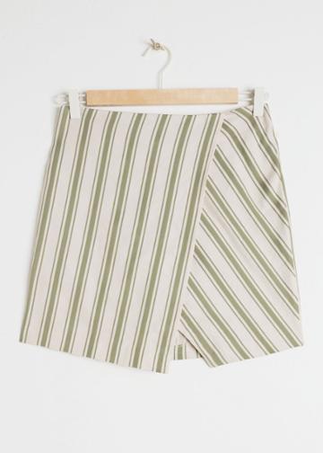 Other Stories Linen Blend Mini Skirt - Green