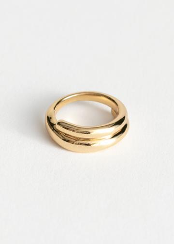Other Stories Spiral Wrap Ring - Gold