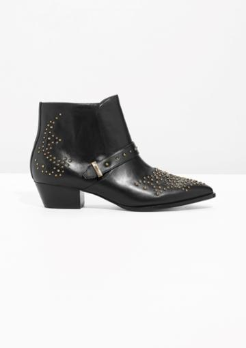 Other Stories Stud Ankle Boots