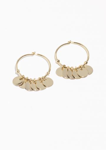 Other Stories Mini Hoop Coin Earrings