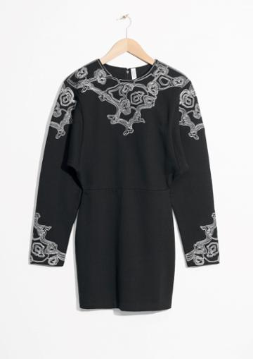 Other Stories Embroidered Mini Dress