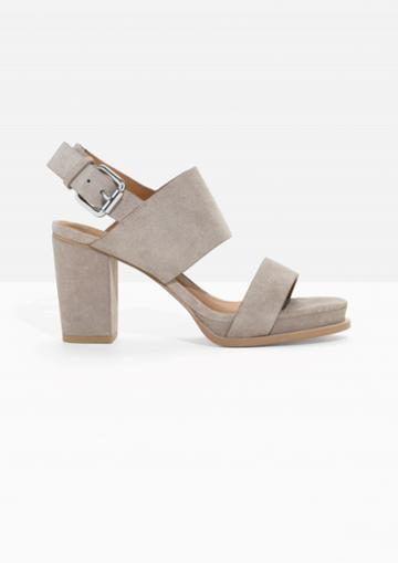 Other Stories Buckled Suede Sandals