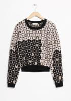 Other Stories Graphic Jacquard Sweater