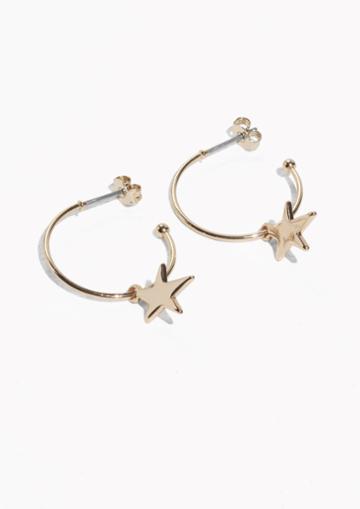 Other Stories Starlet Hoop Earrings
