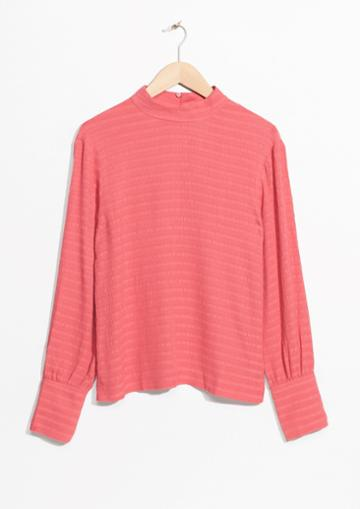 Other Stories Mock Collar Blouse