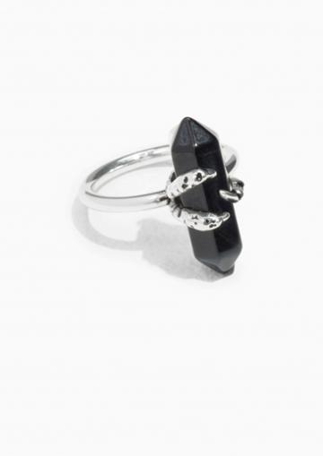 Other Stories Blue Tiger Claw Ring