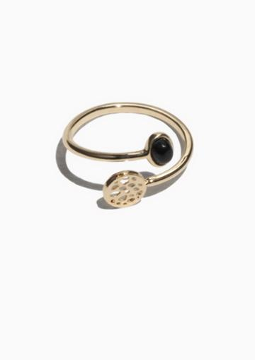 Other Stories Gemstone Fossil Open Ring