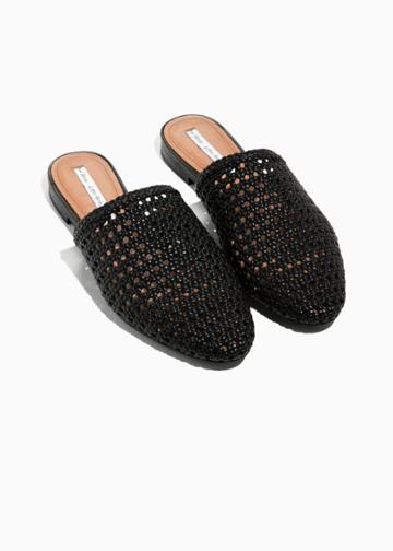 Other Stories Braided Leather Slippers - Black
