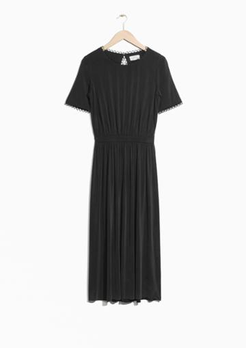 Other Stories Cupro Open Back Dress
