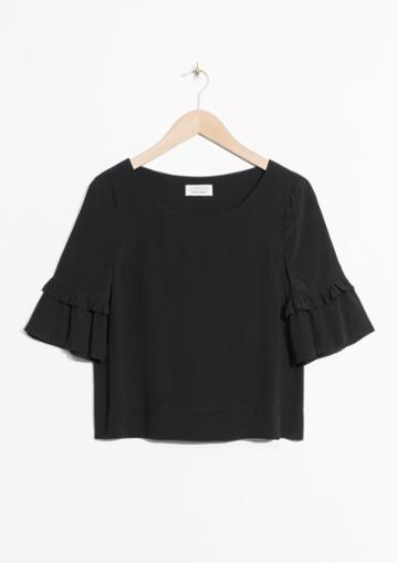 Other Stories Ruffle Sleeves Blouse