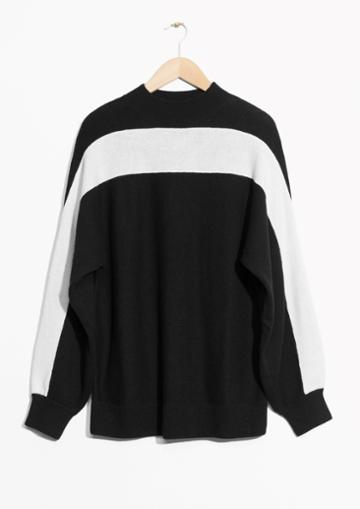 Other Stories White Panel Sweater